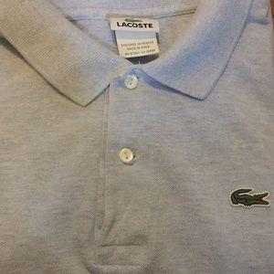 Lacoste XXXL Size 9 Light Blue Polo Shirt EUC